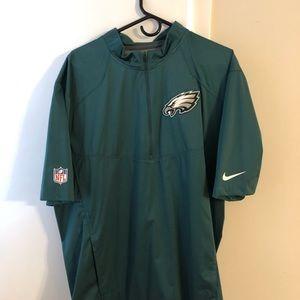 Eagles Nike Short Sleeve 1/2 ZIP